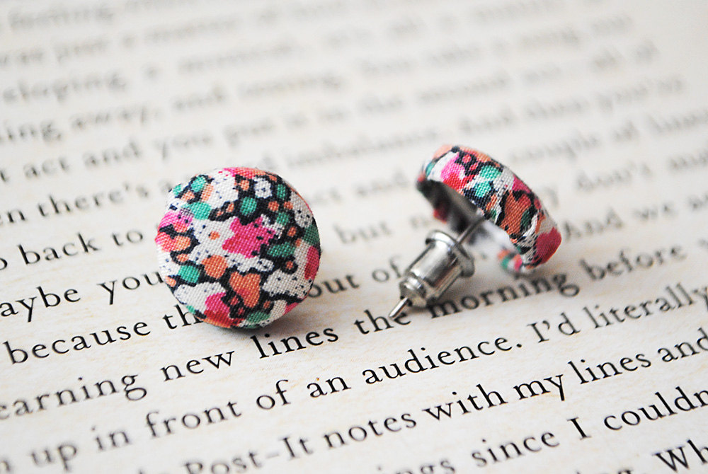 Liberty of London Button Earrings, British, Nickel Free Studs